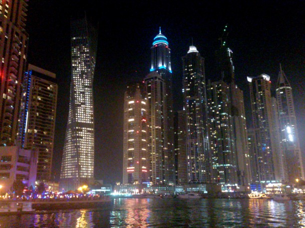 The buildings of Dubai Marina